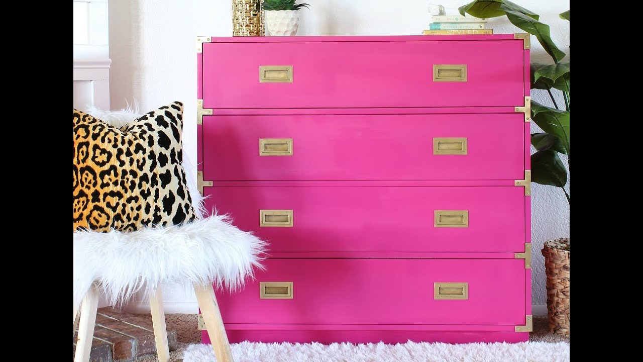 How To Paint A Dresser Painted Campaign Dresser