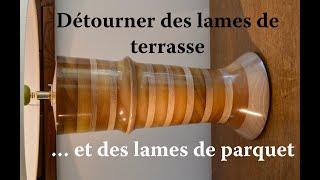 Pied de lampe en Chêne et Itauba. 422