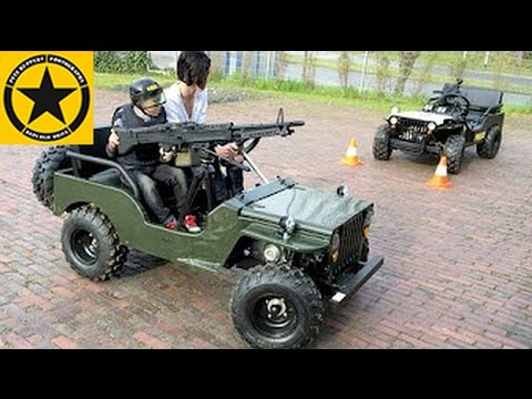 CHILDREN Jeep with M60 MACHINE GUN!! Long Play ENGLISH SUBTITLES - YouTube