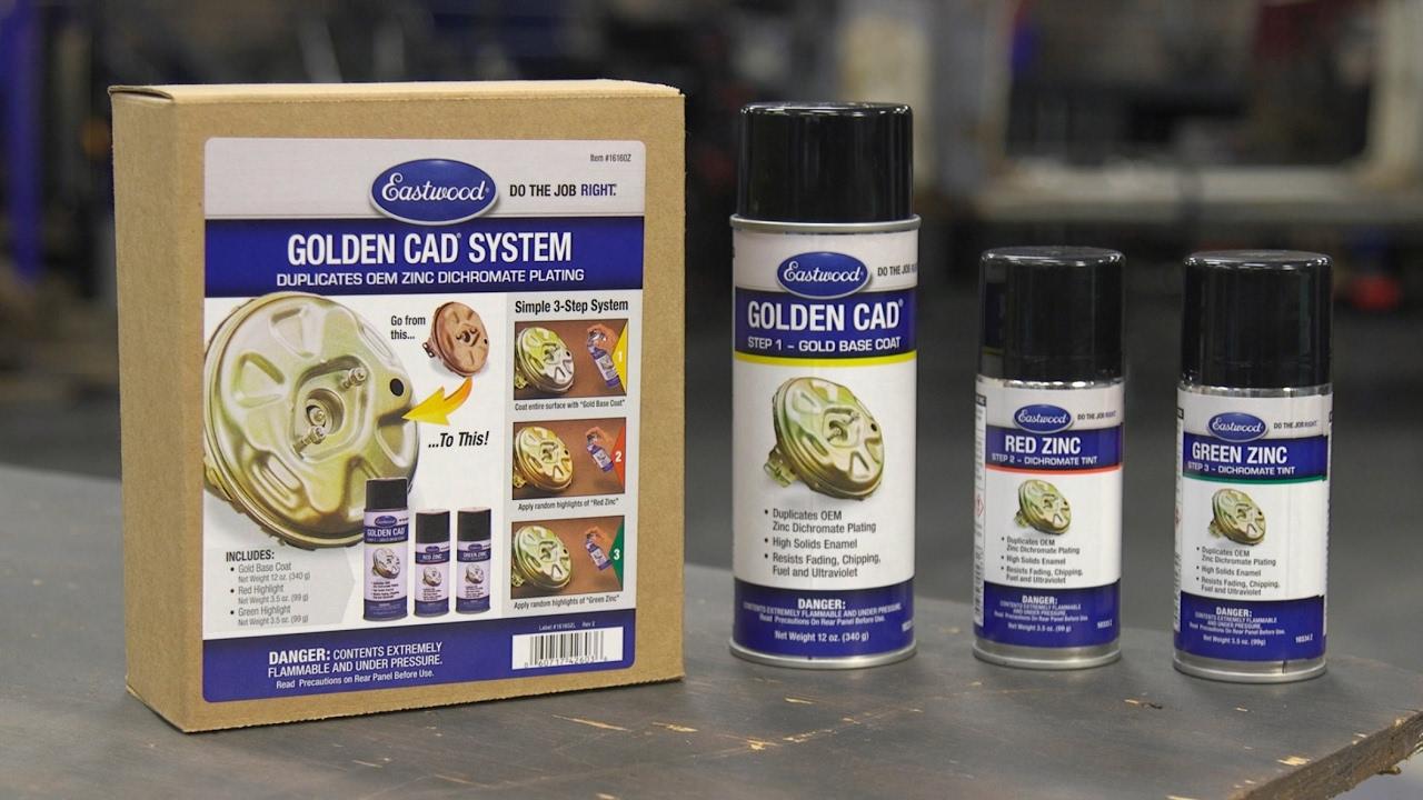 Replicate the look of golden cad plating in 3 easy steps golden replicate the look of golden cad plating in 3 easy steps golden cad complete kit eastwood solutioingenieria Gallery
