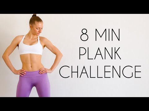 8 MIN PLANK WORKOUT CHALLENGE (No Equipment)