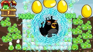 Angry Birds - 100 BAD PIGGIES GET SHOCKED BY 9999 SHOCK WAVE BIRDS GOLDEN EGG!!