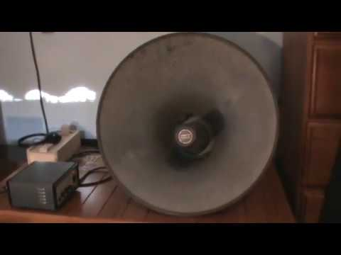 Vintage Sanyo PA Horn Speaker - (One Of The Best Sounding PA Horns Ever?)