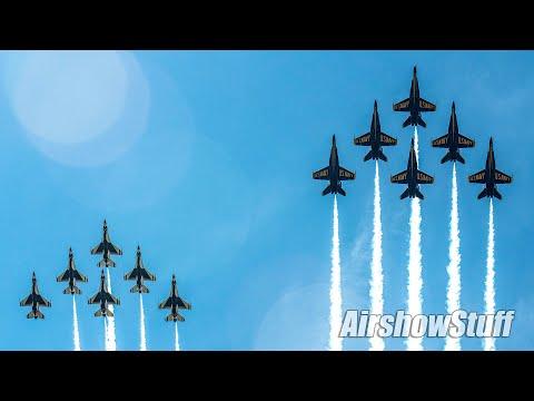 Blue Angels And Thunderbirds Joint Flyovers - Baltimore/Washington DC/Atlanta!