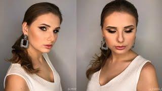 Профессиональный макияж растушеванная стрелка будни визажиста