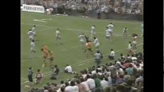 Pumas upset at referee decision vs Australia 1987