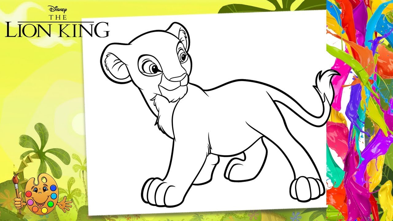 - The Lion King : Young Nala Coloring Pages For Kids Coloring
