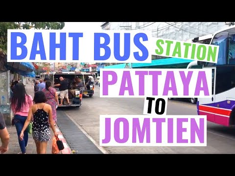Cheap taxi in Pattaya and Jomtien / Baht bus in Pattaya to Jomtien - only 10 baht per person