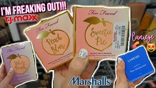 TOO FACED PEACH COLLECTION AT TJ MAXX!!? BUDGET BEAUTY BUYS | HIGH END MAKEUP FOR CHEAP