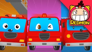 fire truck song 2 | Vehicle songs | Nursery rhymes | REDMON