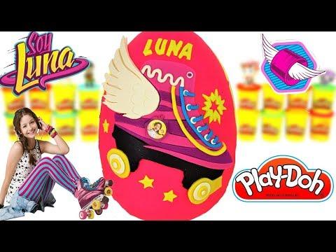 Huevo Sorpresa Gigante de Soy Luna Patines Karol Sevilla en Español de Plastilina Play Doh Soy Luna