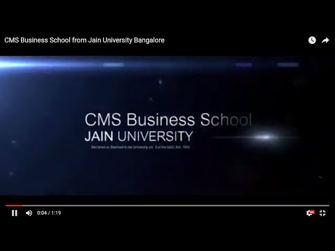 CMS Business School from Jain University Bangalore
