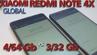 XIAOMI NOTE 4X Global 4/64 Gb сравниваем с NOTE 4X 3/32 Gb. Есть ли разница?! Обзор.