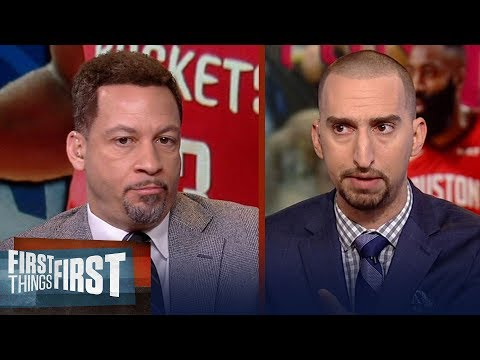 Chris Broussard talks Harden's Rockets & 76ers' struggles against Celtics | NBA | FIRST THINGS FIRST