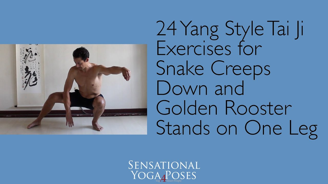 Exercise Golden Rooster is on one leg - REJUVENATION of the body 18