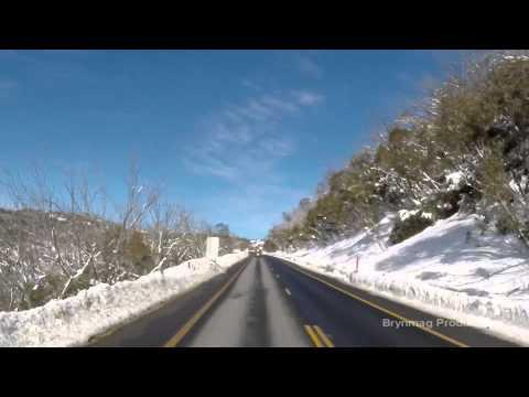 Drivelapse Australia - Jindabyne to Perisher (in Winter) - 100% GoPro HERO - jindabyne