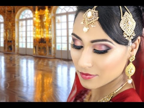 Bridal Smokey Eye Makeup Tutorial-Traditional Asian Pakistani Wedding Reception