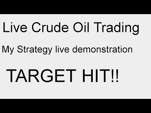 Live Crude Oil Trading - My Strategy live demonstration - TARGET HIT!!