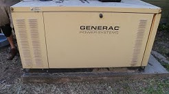 Generac 25kW Liquid Cooled Generator - Radiator flush and fill