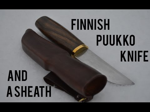 Making A Finnish Puukko And Sheath