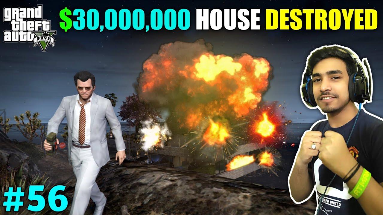 I DESTROYED MAFIA'S MOUNT CHILIAD HOUSE | GTA V GAMEPLAY #56