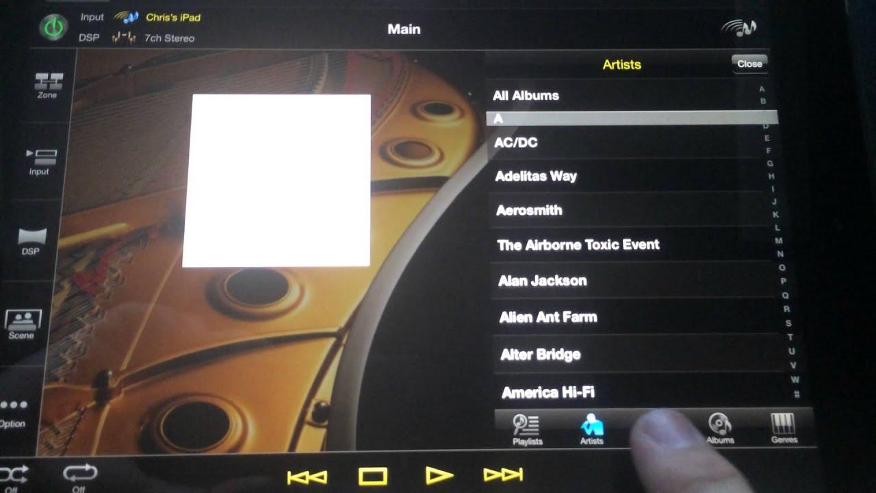 Yamaha AV Controller App for iPad