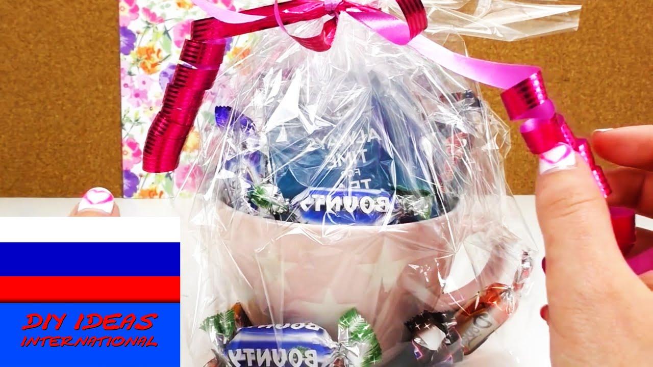 Идея для подарка кружка со сладостями