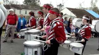 Maquoketa H.S. Cardinal Marching Band from Iowa meets Mardi Gras in Houma