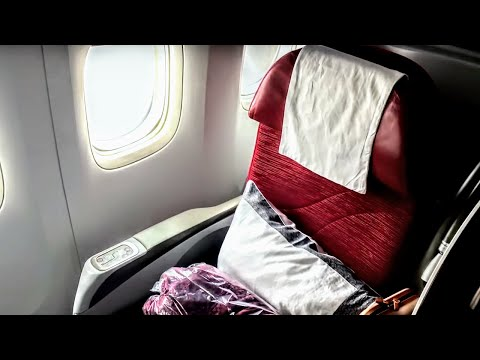 18H BUSINESS CLASS! | TRIP REPORT | Qatar Airways 777-200LR | Business | Auckland - Doha