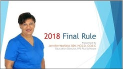 Home Health Final Rule 2018