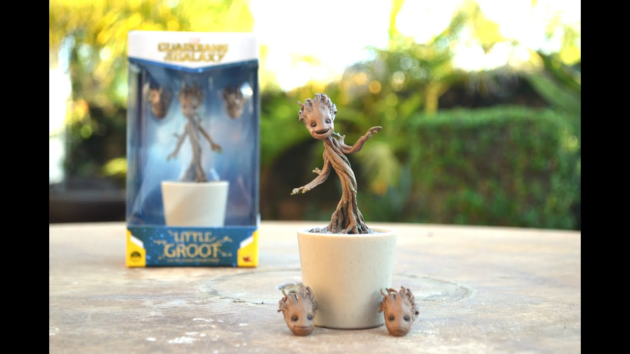 1 4 Scale Hot Toys Little Groot Guardians Of The Galaxy Figure Review