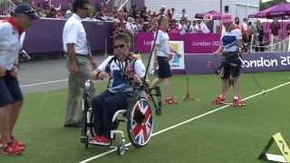 Archery - Brown (GBR) v Clarke (GBR) - Women's Individual Compound - Gold Medal Match - London 2012