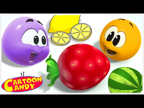 Learn Colors with Colorful Fruits - PART 1 WonderBalls | Cartoons For Children | Cartoon Candy