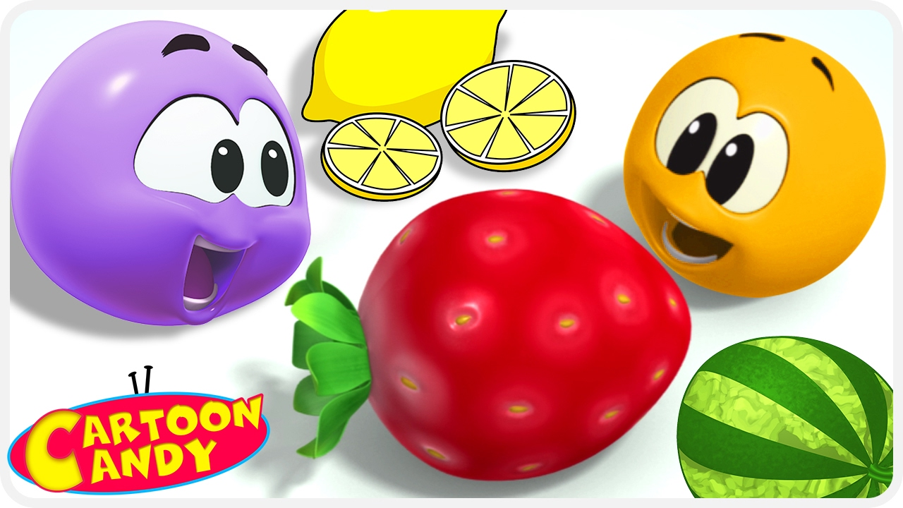 learn and play with colorful fruits wonderballs cartoons for