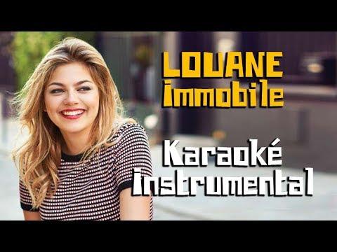 LOUANE - Immobile | Karaoké instrumental ( Paroles / Lyrics )