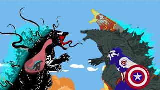 Venom Godzilla Vs Captain Kong | Godzilla Earth And Iron Godzilla Earth - Full