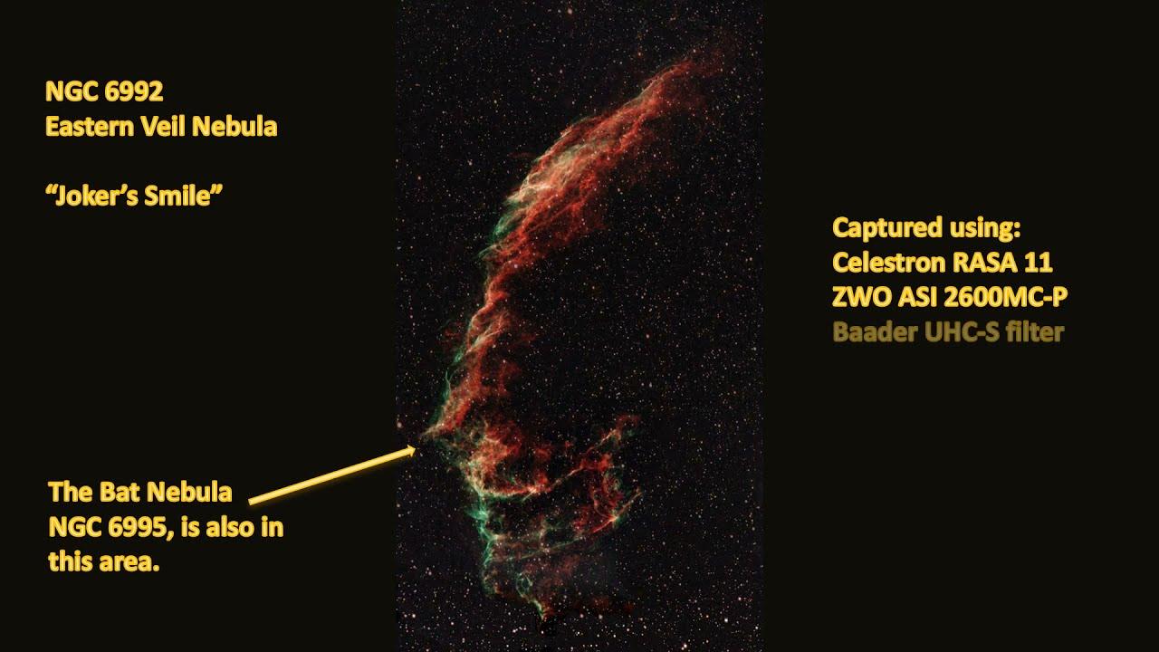 NGC 6992 Eastern Veil Nebula - Joker's Smile