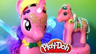 Play Doh Plus Princess Twilight Sparkle Pinkie Pie Pretty Parlor Playset Toy Review My Little Pony