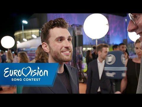 Duncan Laurence aus den Niederlanden auf dem Orange Carpet   Eurovision Song Contest   NDR