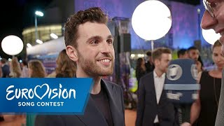 ESC 2019: Duncan Laurence aus den Niederlanden auf dem Orange Carpet | Eurovision Song Contest | NDR