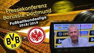 Borussia Dortmund - SG Eintracht Frankfurt: Pk mit Lucien Favre und Adi Hütter