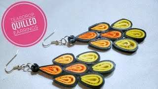 Teardrop Paper Quilling Earrings/Quilling Earrings/Paper Quilling