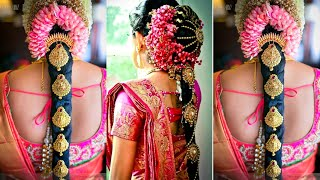 Indian Wedding Bridal Hairstyles | South Indian gorgeous Bridal hairstyles | Pelli Poola jadalu