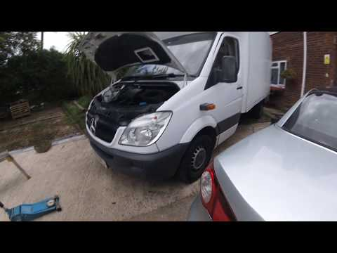 How to remove a Mercedes Sprinter engine \\ Как снять двигатель Mercedes Sprinter