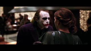 The Dark Knight | You Know How I Got These Scares?  Maggie Gyllenhaal & Heath Ledger