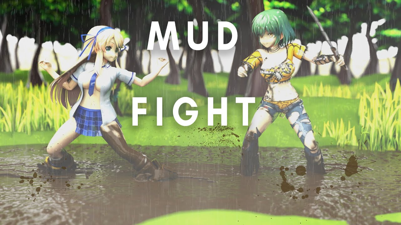 Mud Fight featuring Katsuragi and Hikage [RPG style]