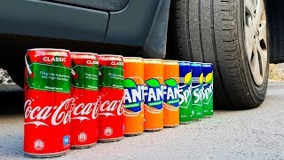 EXPERIMENT: CAR VS COKE FANTA SPRITE