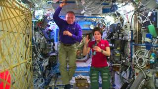Space Station Crew Members Discuss Life in Space at Holidays with the Media