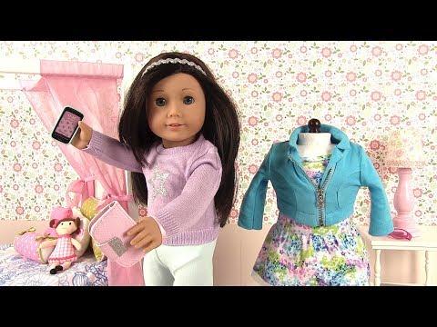 Poupée American Girl AG Truly Me 60 Accessoires Vêtements Téléphone Portefeuille