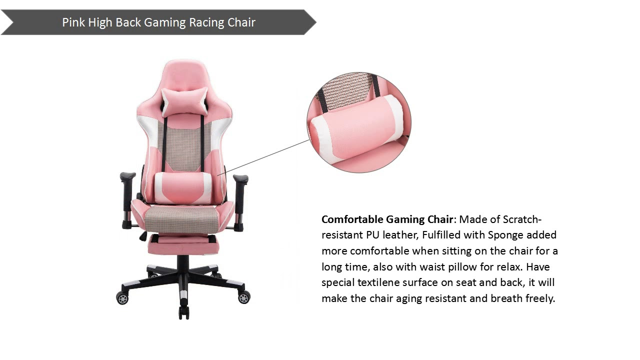 Tips Choose Ergonomic High Back Large Size Office Desk Chair Swivel Pink PC  Gaming Chair Reviews